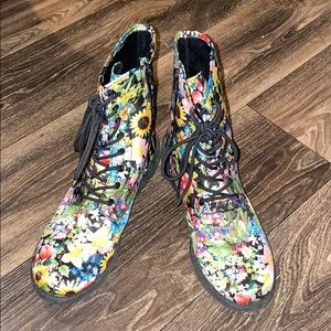 Multi Colored flower boots